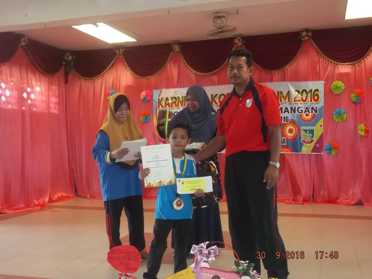 Adi Wira Cilik Juara B12 SK Temangan