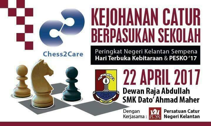 Sorotan Kejohanan Catur Berpasukan Sekolah Kelantan Sempena Hari Kebitaraan dan PESKO SMK Dato' Ahmad Maher 2017