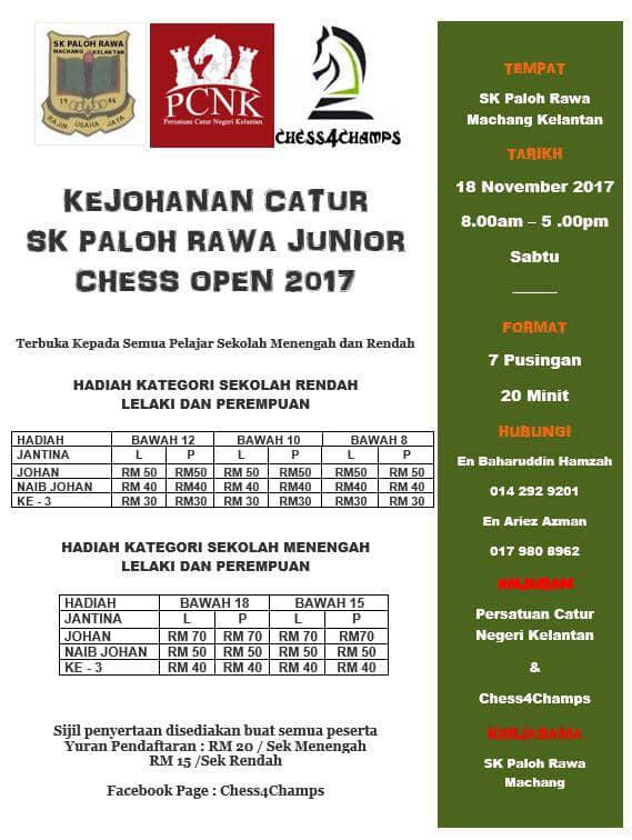 Kejohanan Catur Junior Paloh Rawa
