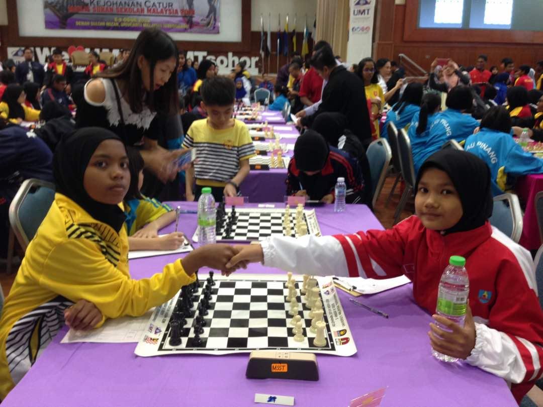 Pasukan Catur Kelantan di MSSM Terengganu