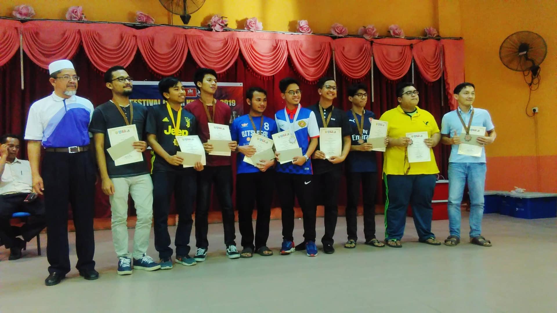 Pemain Bawah 12 Tahun Kuasai Kategori Sekolah Menengah