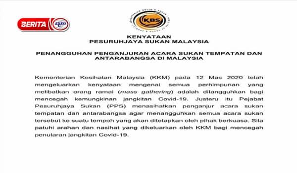 Penangguhan Semua Program PCNK Sepanjang COVID-19